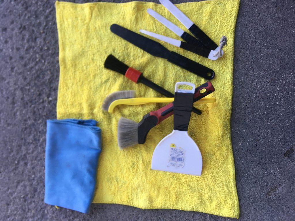 室内清掃の道具たち!    中川、港店